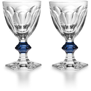 HARCOURT 1841 GLASS  Clear & blue